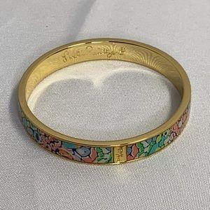 Lilly Pulitzer Gold Multicolor Bangle Bracelet